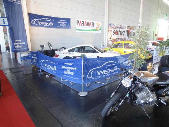 Messestand Wena-Car Produkt GmbH auf der Klassikwelt am Bodensee.